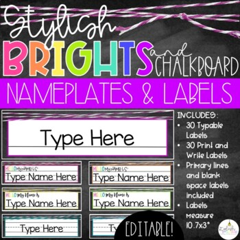 Brights & Chalkboard Name Plates