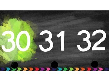 Brights & Chalkboard Number Line and Posters