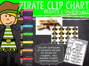 Brights & Chalkboard Pirate Clip Chart