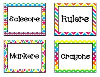 Brights Classroom Decor Pack