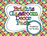 Brights Classroom Decor Pack
