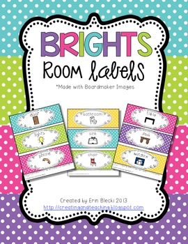 Brights Colored Classroom Labels