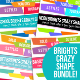 Brights Crazy Shapes Trapezoids Bundle