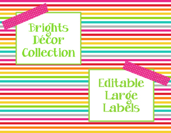 Brights Decor: Editable Large Labels