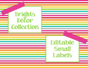 Brights Decor: Editable Small Labels