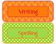 Brights Decor: Editable Subject Labels