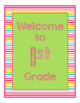 Brights Decor: Green Welcome Poster