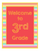 Brights Decor: Red Welcome Poster