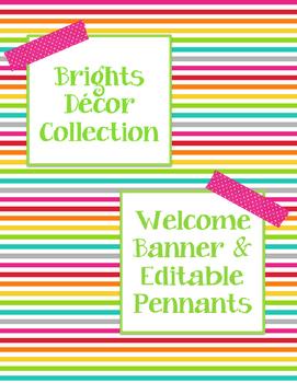 Brights Decor: Welcome Pennants & Editable Pennants