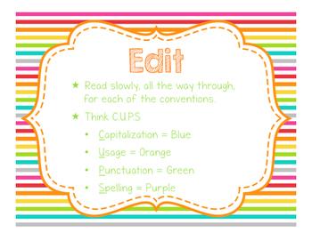 Brights Decor: Writing Clip Chart