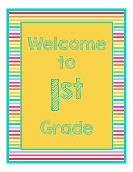 Brights Decor: Yellow Welcome Poster