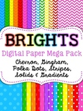 Brights Digital Paper Mega Pack {Chevron, Polka Dots, Stri
