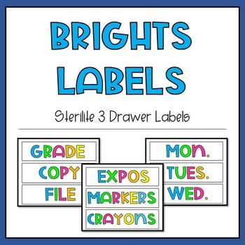Brights Drawer Labels   20+ Labels   4 Designs