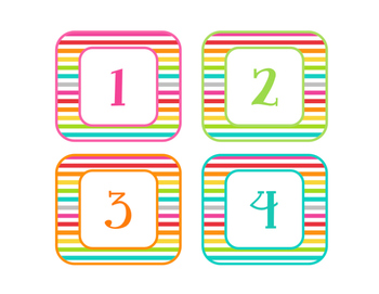 Brights Decor: Number Labels