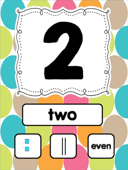 Brights Number Posters