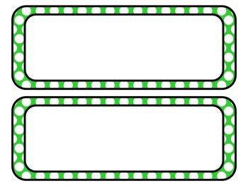 Brights Polka Dot Subject Area Labels: Editable, Classroom Decor, Organization