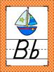 Brights Polka Dots Themed Alphabet Posters Handwriting DNealian anchor