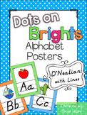 Bright Themed Classroom Alphabet Posters Handwriting DNealian