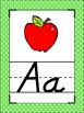 Brights Polka Dots Themed Alphabet Posters Handwriting DNe