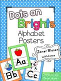 Bright Themed Classroom Alphabet Posters Handwriting {Zaner Bloser}
