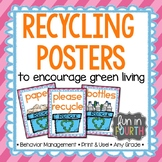 Recycle Posters Bright Themed