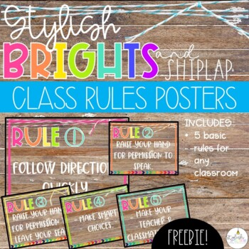 Brights & Shiplap Class Rules - EDITABLE!