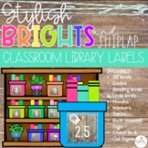 Brights & Shiplap Classroom Library Labels - EDITABLE!