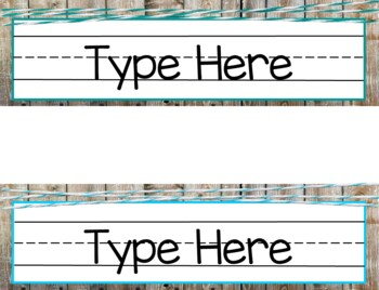 Brights & Shiplap Name Plates and Labels - EDITABLE!