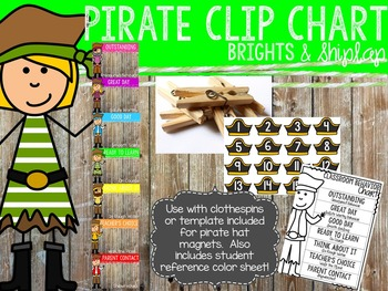 Brights & Shiplap Pirate Clip Chart