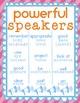 Speaking and Listening Posters Bright Themed