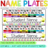 Brights Student Name Plates / Name Tags for Desks, fit Tar