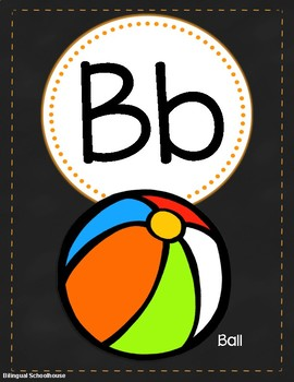 Brights and Chalkboard Alphabet Posters