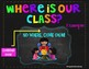 Brights and Chalkboard Where are We Posters *Editable