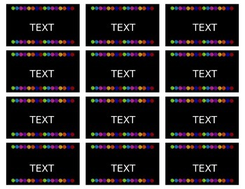 Brights and Dots Editable Banner, Labels, and Focus Wall Headers