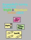 Brights and Melonheadz toolbox labels