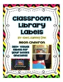 Brights Neon Book Labels - 420+ Labels for your Classroom Library Books and Bins