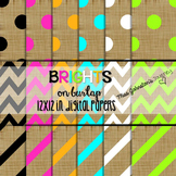 Brights on Burlap Digital Papers