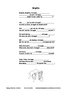 German Musical Chant About Romance, Dative and Accusative Preps - Brigitta
