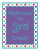 Brillants Decor: Purple Welcome Poster