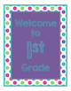Brillants Decor: Purple Welcome Poster