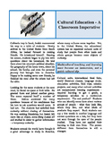 Brilliance Pages - Cultural Education; Multicultural Education