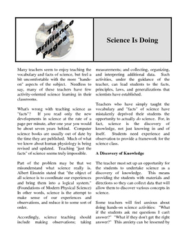 Brilliance Pages - Doing Science; Improve Science Teaching; Girls as Scientists
