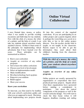Brilliance Pages - Online Collaboration; Technology for El