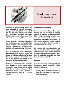 Brilliance Pages -  Revitalizing and Marketing Home Economics