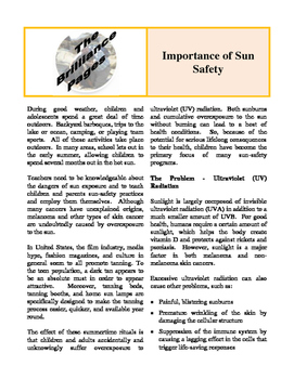 Brilliance Pages - Student Nutrition; Sun Safety