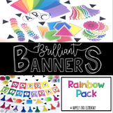 Brilliant Banner | Brights and Rainbow Decor Pack