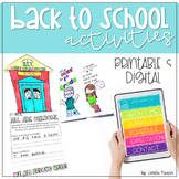 Beginning of the Year Activities | Back to School Mega Unit K-2