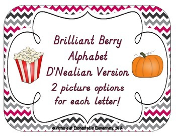 Brilliant Berry Alphabet Cards: D'Nealian Version