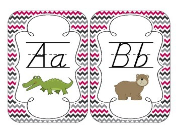 Brilliant Berry Alphabet Cards: D'Nealian Version