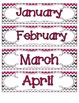 Brilliant Berry Calendar Numbers, Months and Days